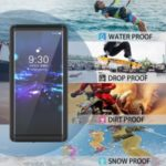 REDPEPPER Waterproof Protection Phone Case Covering for Samsung Galaxy Note 10 [Support Fingerprint Unlock] [Clear Back] – Black