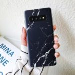 Marble Pattern IMD TPU Phone Case for Samsung Galaxy S10 – Black
