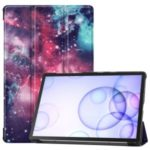 Pattern Printing Tri-fold Stand Leather Tablet Case for Samsung Galaxy Tab S6 – Cosmic Space