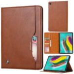 Auto-absorbed PU Leather Stand Wallet Tablet Case for Samsung Galaxy Tab A 8.0 Wi-Fi (2019) SM-T290 – Light Brown
