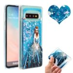 Embossed Glitter Powder Quicksand TPU Cell Shell for Samsung Galaxy S10 Plus – Girl