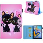 Pattern Printing Card Slot Flip Leather Cover for Samsung Galaxy Tab A 8.0 Wi-Fi (2019) SM-T290 – Couple Cat