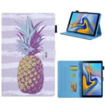 Pattern Printing Card Slot Flip Leather Shell for Samsung Galaxy Tab A 8.0 Wi-Fi (2019) SM-T290/T295 – Pineapple