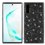 Glittering Sequins Plated TPU Frame + PC Hybrid Case for Samsung Galaxy Note 10 – Black
