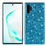 Glittering Sequins Electroplating TPU Frame+PC Back Hybrid Shell for Samsung Galaxy Note 10 Plus – Blue
