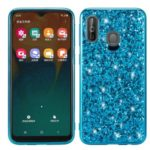 Glittering Sequins Electroplating TPU Frame+PC Back Phone Cover for Samsung Galaxy A40 – Blue