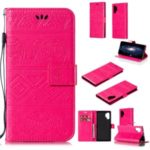 Imprint Elephant Leather Phone Shell for Samsung Galaxy Note 10 Plus – Rose