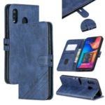 Wallet Leather Stand Case for Samsung Galaxy A40 – Blue