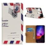 Pattern Printing PU Leather Wallet Stand Phone Protection Cover for Samsung Galaxy A10s – Envelope