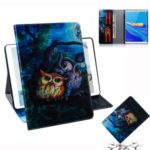 Pattern Printing Wallet Stand Leather Tablet Case for Huawei MediaPad M6 8.4-inch – Owl