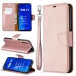 Litchi Texture Leather Wallet Stand Case for Huawei Honor 9X / Honor 9X Pro – Rose Gold