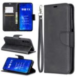 PU Leather Wallet Stand Phone Shell Cover for Huawei Honor 9X / Honor 9X Pro – Black