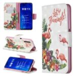Pattern Printing Light Spot Decor Leather Wallet Case for Huawei Honor 9X / 9X Pro – Flamingo