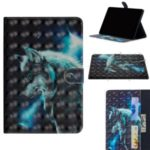 Printing Style Light Spot Decor Leather Wallet Phone Cover for Huawei MediaPad M6 10.8-inch – Wolf