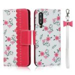 Pattern Printing PU Leather + TPU Wallet Phone Cover Shell for Huawei P30 – Rose