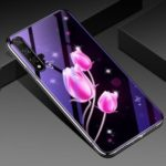 Electroplated TPU Soft Frame + Blue-ray Tempered Glass + PC Back Plate Hybrid Case for Huawei Honor 20 / nova 5T – Tulip