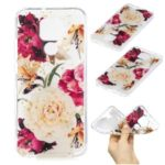 Glitter Sequins Inlaid Pattern Printing TPU Case for Huawei Mate 30 Lite / nova 5i Pro – Flower