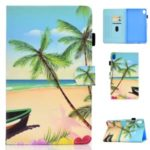 Pattern Printing Leather Card Holder Stand Cover for Huawei MediaPad M6 10.8-inch – Beach