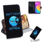 Printing Skin Leather Phone Shell Case for Xiaomi Mi CC9e / Mi A3 – Do not Touch My Phone