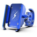 Bicycle Mount Aluminum Alloy Mobile Phone Holder Bracket for Motorcycle Bike – Blue