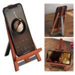 R-JUST Wood + Aluminum Alloy Mobile Phone Tablet Holder Desktop Bracket