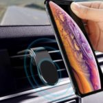 Air Vent L Shape GPS Mount Universal Magnetic Car Phone Holder – Black