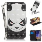 Light Spot Decor Pattern Printing Wallet Stand Flip Leather Phone Casing with Strap for Nokia 2.2 – Fierce Panda