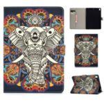 Pattern Leather Tablet Case for iPad Air (2013)/Air 2/Pro 9.7 inch (2016)/9.7-inch (2017)/(2018) – Elephant