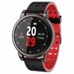 B8+ Smart Watch 1.08inch IPS Screen Waterproof Smart Bracelet Heart Rate GPS Movement Tracking – Black/Red
