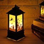 Creative Halloween Decoration Hanging Light Lantern Flame Lamp for Home Bar School Decor – Castle Pattern