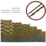 50PCS/Pack HSS Plating Titanium Twist Drill Bit Set Metric System 1.0-3.0mm