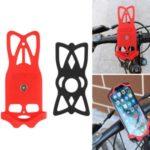 GUB P8 Bicycle Phone Holder Adjustable Silica Gel Bike Phone Racks Cycling Cellphone GPS Holder – Red Frame Black Bandage