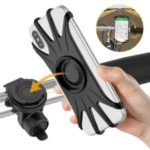 VUP 360 Degree Bicycle Handlebar Mount Phone Holder for 4.0-6.5 inch Smartphones