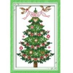 13 * 21cm DIY Christmas Tree Pattern Home Decor Cross Stitch Set Embroidery Needlework Kits
