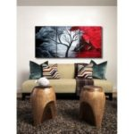 3pcs Oil Painting Set Unframed Canvas Print Art Picture for Home Office Decoration