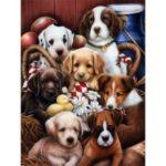12×16 inches/30x40cm 5D Diamond Painting Kit Resin Rhinestone Mosaic Embroidery Cross Stitch Wall Craft – Dog