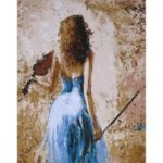 Frameless Digital Oil Painting 16x20inch Hand-Painted Cotton Canvas Wall Art Paintings
