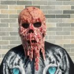Creative Characteristic Horrible Bloody Skull Mask for Halloween
