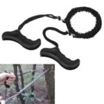 Folding Jagged Manual Steel Wire Chainsaw Hand Camping Hunting Emergency Survival Tool