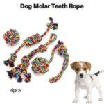 Chew Durable Cotton Knot Rainbow Rope Balls Dog Molar Teeth Rope