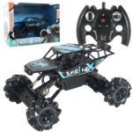 1: 12 Scale 2.4G RC Car 4WD Drift Climbing Remote Control Stunt Car RC Car Toy with Lights Music – Blue