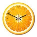 Acrylic Wall Clock Living Room Decorative Clock – Orange