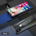 Third Generation Magnetic Adsorption Metal + Tempered Glass Combo Case for iPhone XS / iPhone X – Black
