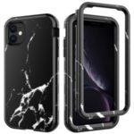 Water Transfer Printing TPU + PC Hybrid Phone Shell for iPhone 11 6.1 inch (2019) – Style A