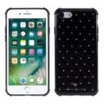 Rhinestone Decor TPU Shockproof Protective Phone Case for Apple iPhone 7/8 4.7 inch – Black