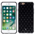 Rhinestone Decor Shockproof TPU Phone Case Cover for iPhone 6/6s 4.7-inch – Black