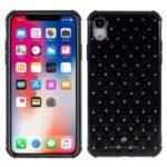 Shockproof Rhinestone Decor TPU Phone Case for iPhone XR 6.1 inch – Black