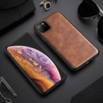 X-LEVEL Vintage Style PU Leather Coated TPU Mobile Phone Cover Shell for iPhone 11 Pro Max 6.5 inch – Brown