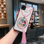 Flower Pattern Tassel Phone Back Case for Apple iPhone 11 Pro 5.8 inch – Pink