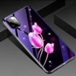 Electroplated Blue-ray Tempered Glass Back Plate Phone Case for Apple iPhone 11 Pro 5.8 inch – Tulip